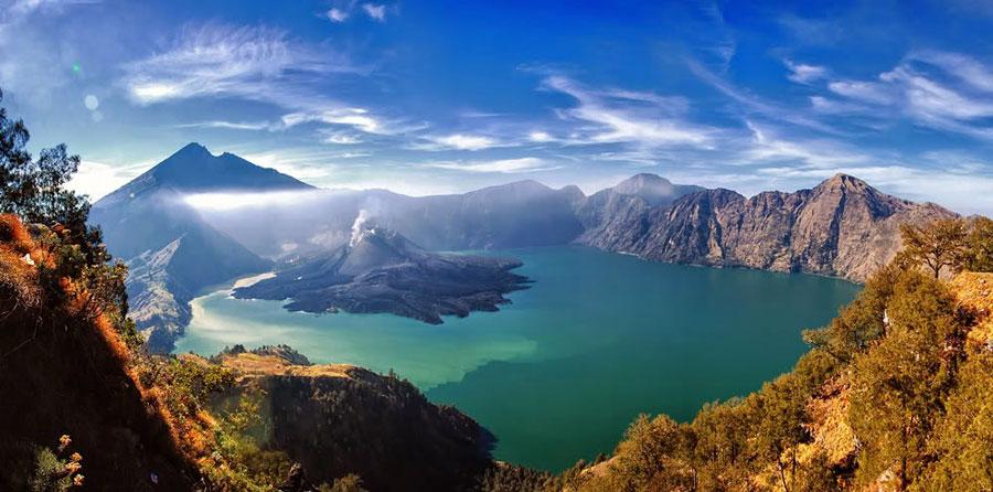 gambar pemandangan alam gunung rinjani