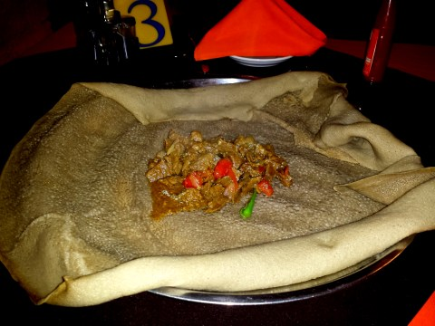 Beef Tibs and Injera