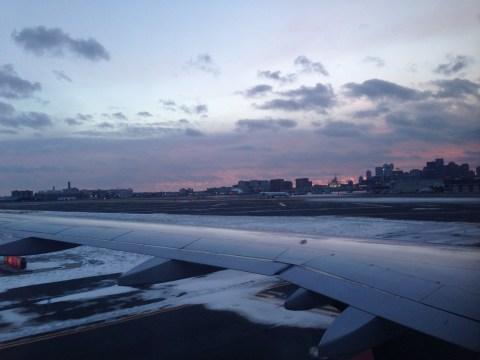 Coming in to Boston Logan International AIirport
