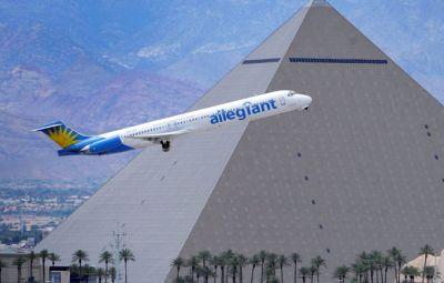 Older Allegiant MD-83 leaving Las Vegas