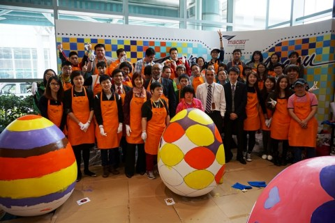 Macau Airport Easter Eggs