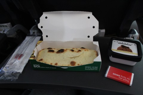 Swiss Air LX052 ZRH-BOS Meal Service - Snack