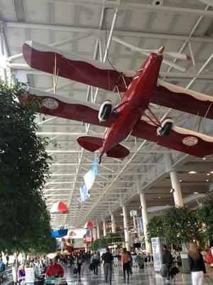 Just Plane Art in CLT Airport Atrium