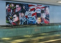 Just Plane Art CLT Airport - NASCAR Mural
