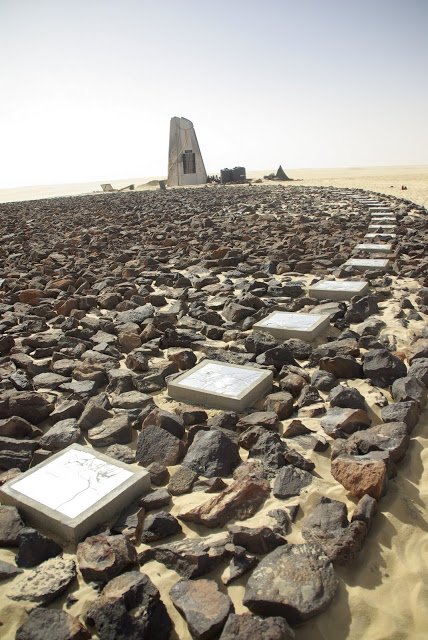 Airplane in the Sahara Desert - Completed Memorial