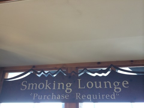 Smoking Lounge at Denver Airport