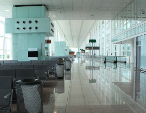 Empty and Open Spaces at Barcelona Airport