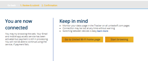 Finally Connected - United 1241