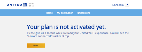 United 1241 - Wi-Fi Not Activated