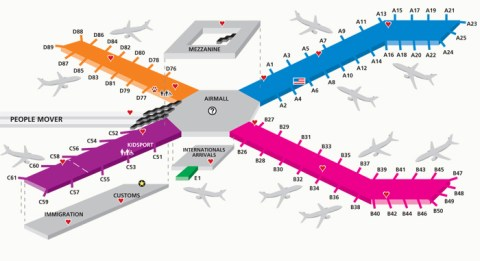PIT Airport Map