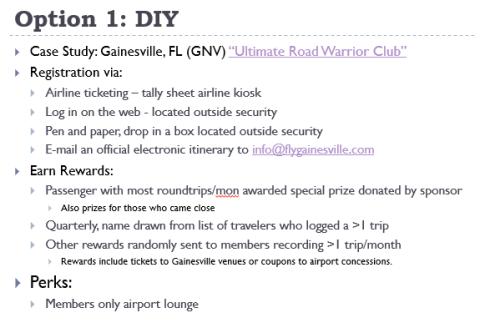 DIY Airport Loyalty Program