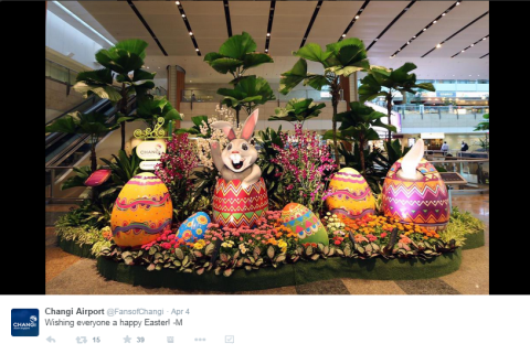 SIN Airport Easter on Twitter