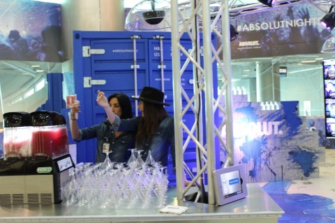 Absolut Booth - MIA Airport