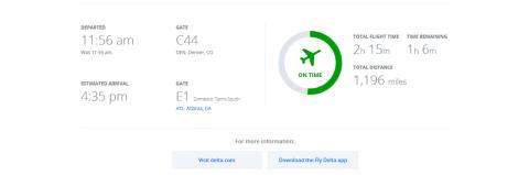 Delta Flight Details
