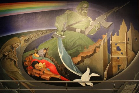 Mural of Death - Conspiracy Theory at Denver International Airport