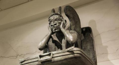 Menacing Gargoyle - another conspiracy theory at Denver International Airport