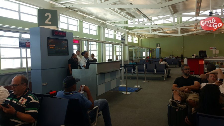 My gate at the CUR Airport
