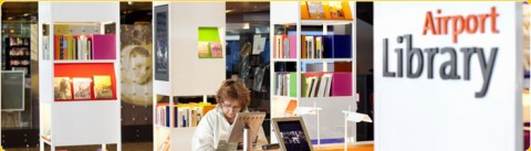 Schiphol Airport library - for a relaxing long layover airport visit