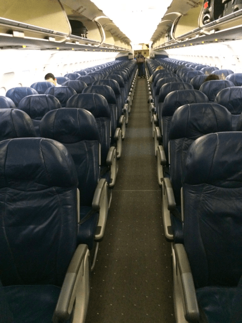 View of Economy Class - AA647