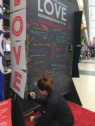 HMSHostLove Chalkboard - Valentine's 2017