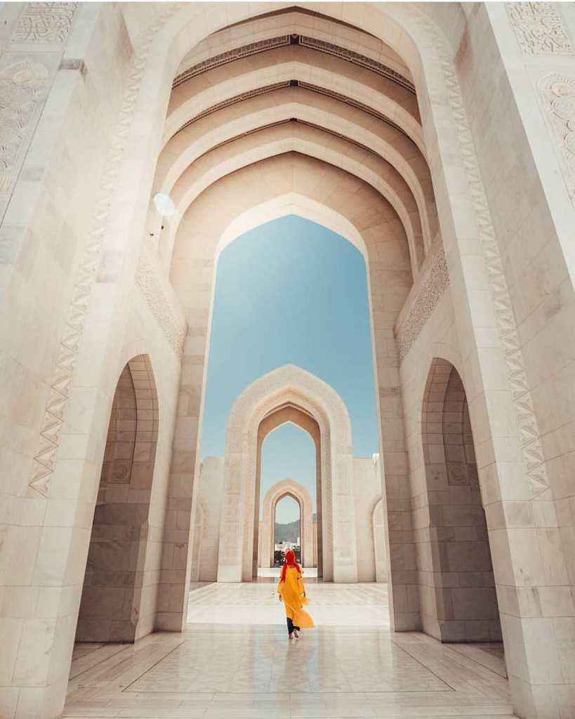 Mosque architechture Muscat Oman