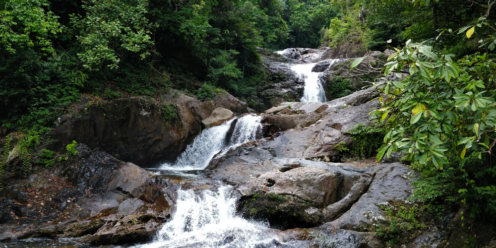 Lasir waterfall is a perfect spot for relaxing and camping in Malaysia