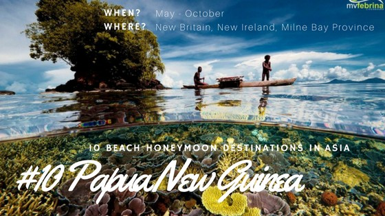 For nice beaches in Asia, head to Papua New Guinea to discover the most natural beaches