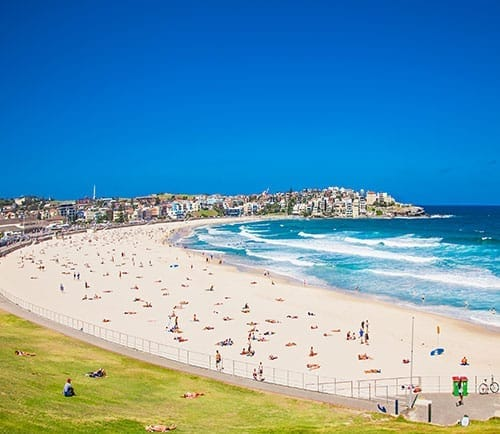 Bondi beach is not one of the places to visit near Sydney by car - take public transport instead