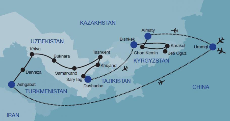 Silk road travel