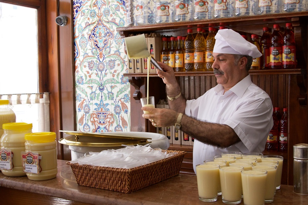 Boza is a must try drink during summer in Turkey