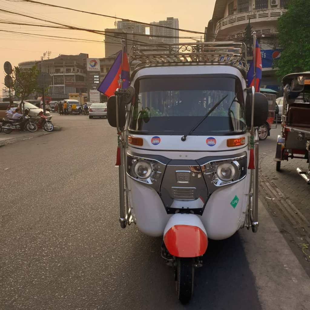A tuk-tuk is accessible anywhere in Cambodia