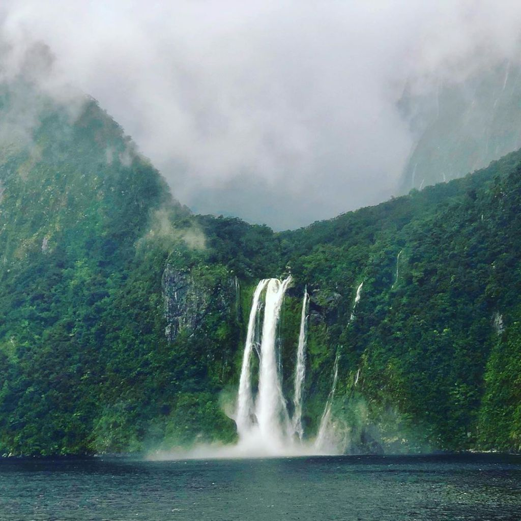 Divine waterfalls at Milford Sound
