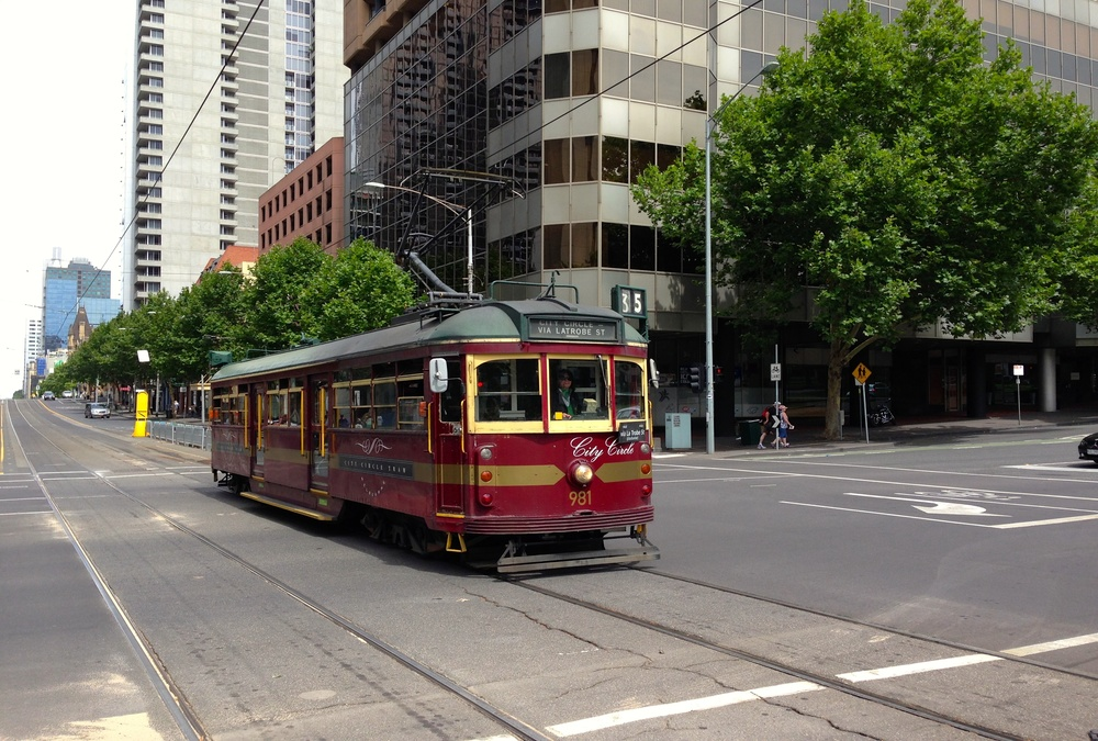 Hop on the city circle tram
