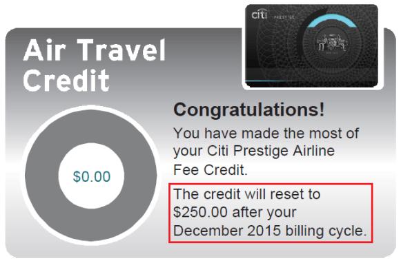 Citi-Prestige-250-Airline-Credit-Used