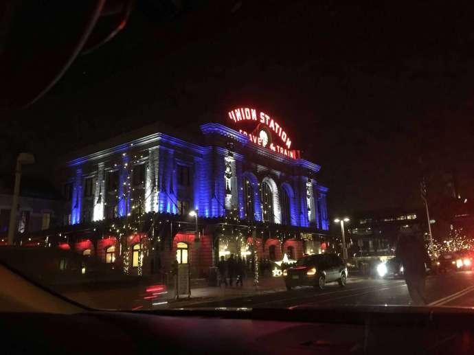 Union Station 的夜景