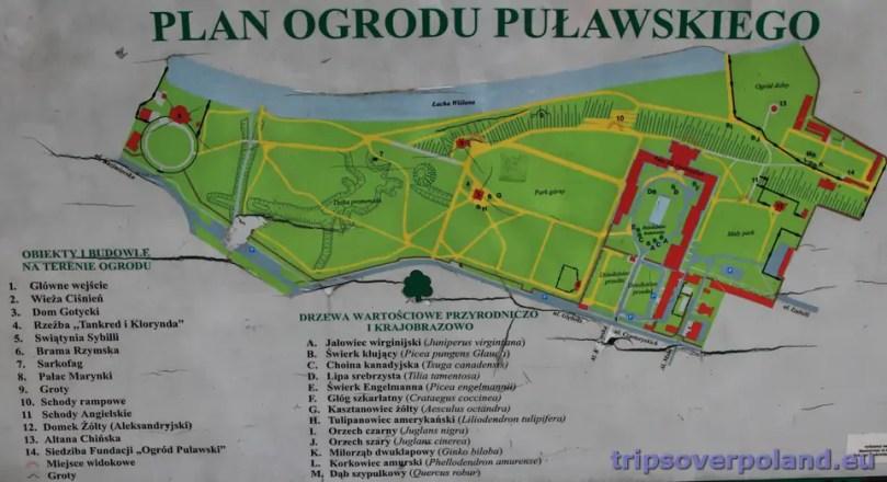 Plan Ogrodu Puławskieg