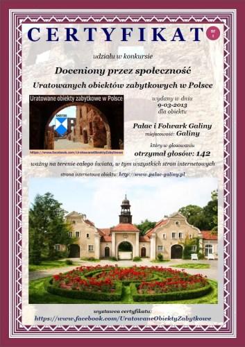 Pałac i Folwark Galiny - http://www.palac-galiny.pl