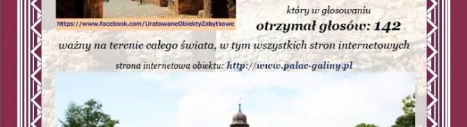 """Pierwsze certyfikaty uznania w konkursie """"Doceniony przez społeczność Uratowanych obiektów zabytkowych w Polsce"""""""