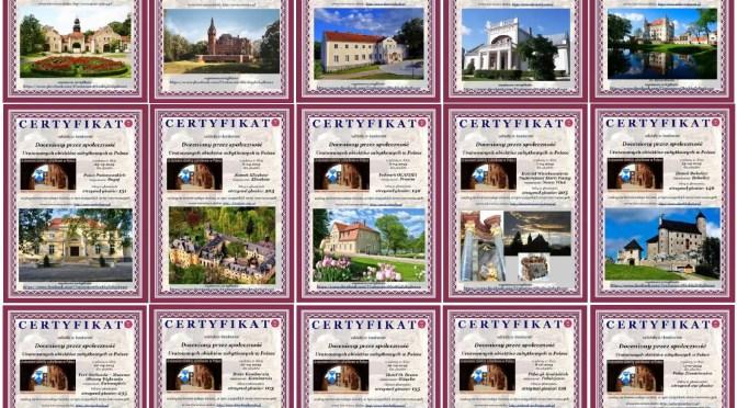 15 certyfikatów w konkursie Uratowanych Obiektów Zabytkowych w Polsce