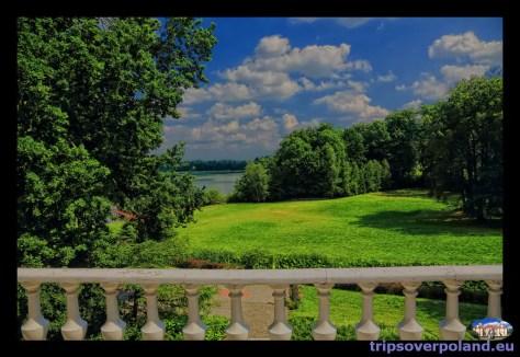 Pozorty - widok na ogród i jezioro
