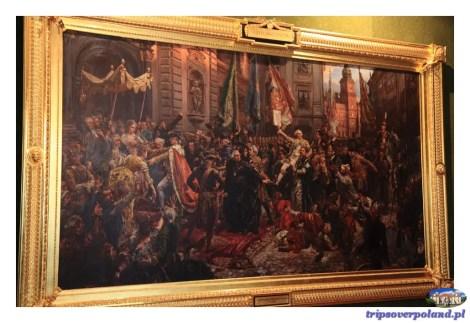 Sala Senatorska w Zamku Królewskim - Jan Matejko, Konstytucja 3 Maja 1791 roku, 1891