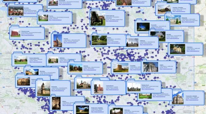 Nowa pełnoekranowa mapa uproszczona odwiedzonych przez nas miejsc w Polsce