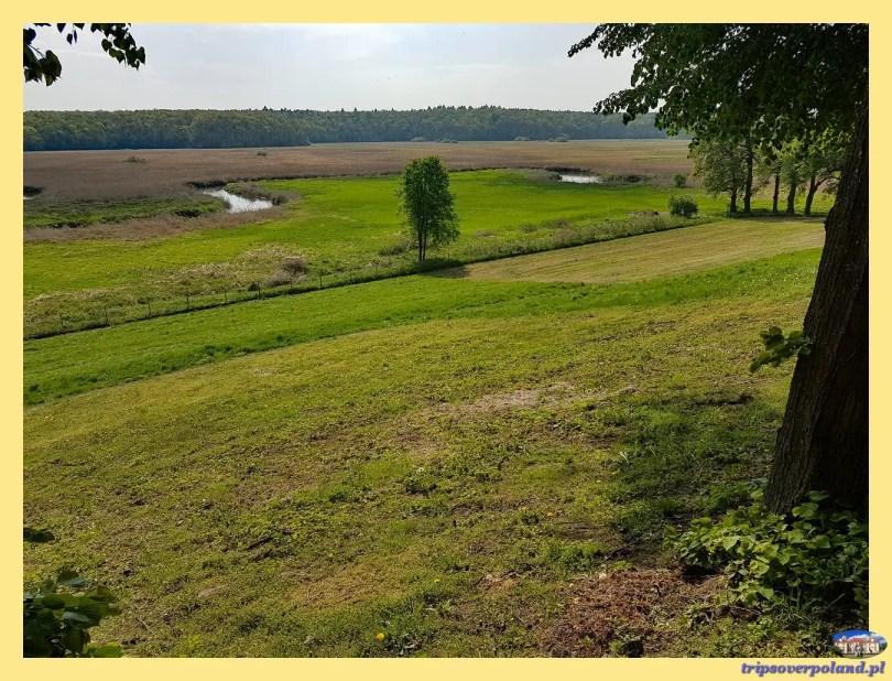 Dwór Ujazdowski - widok na dolinę rzeki Wieprz