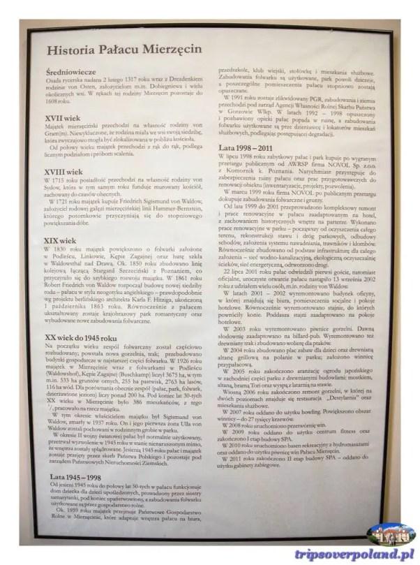 Mierzęcin - historia pałacu