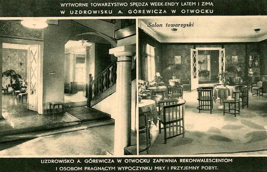 Pensjonat Gurewicza lata 1935-1939 - Hol i salon towarzyski - archiwum fotopolska.eu