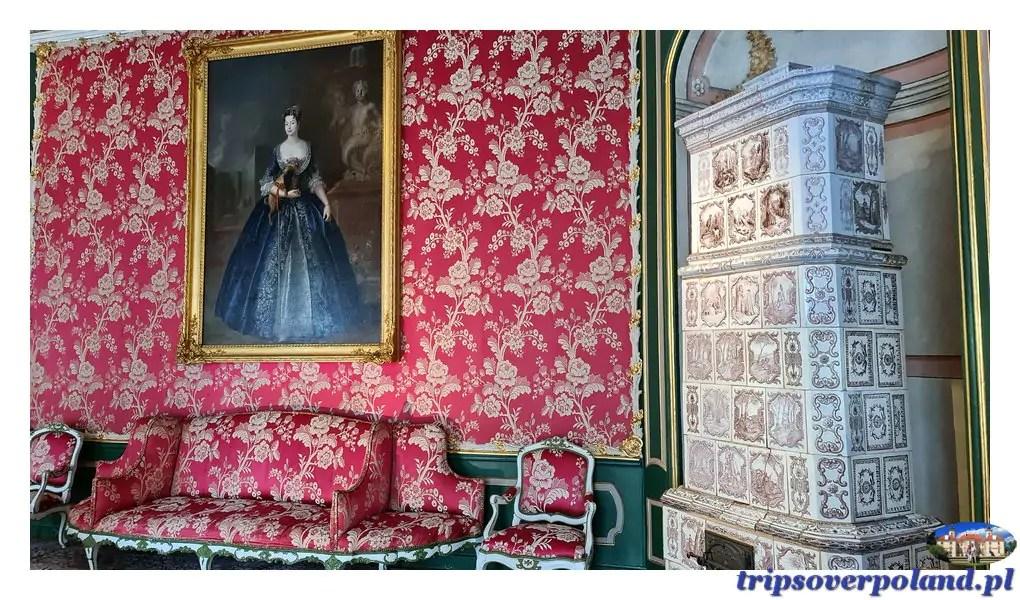 Pałac w Nieborowie'2021 - salon Czerwony