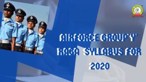 Airforce Y Group RAGA Syllabus 2020