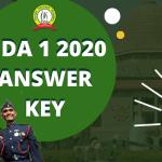 NDA 1 Answer Key 2020