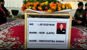 Country's son Shaheed Swantantra Singh Rawat martyred with Pakistan, funeral today with military honours