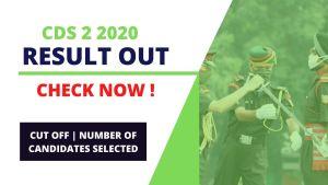 UPSC CDS 2 2020 Result Declared